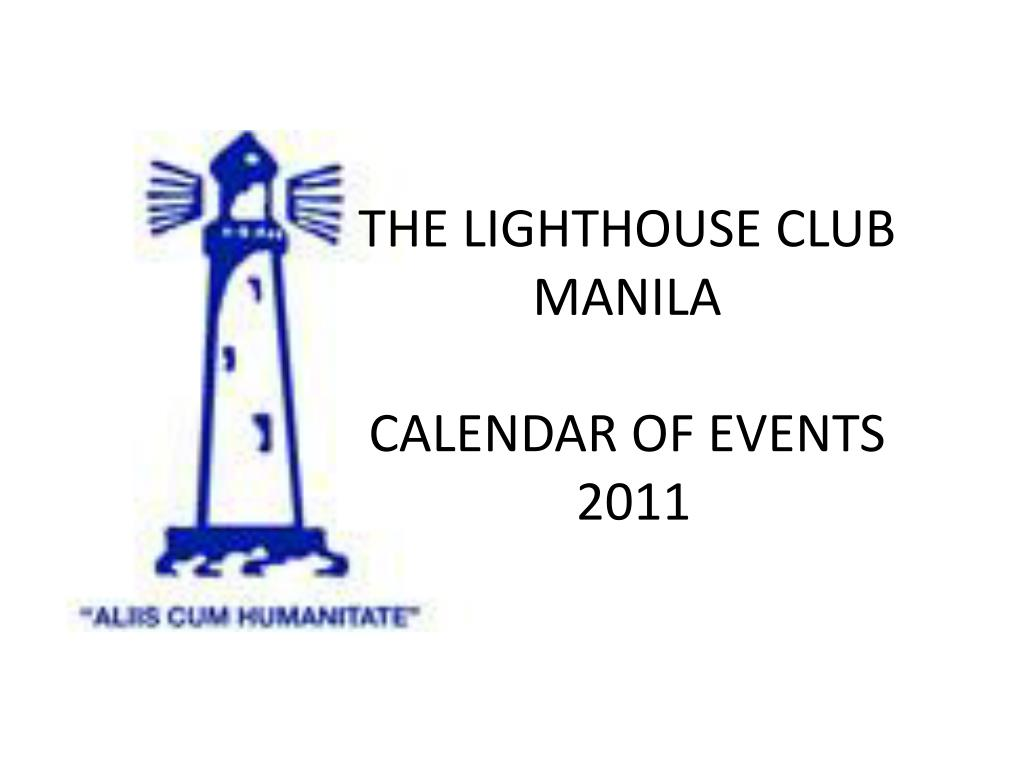 the lighthouse club manila calendar of events 2011 l.