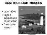cast iron lighthouses