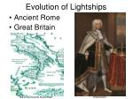 evolution of lightships