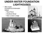 under water foundation lighthouses