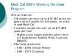 medi cal 250 working disabled program1