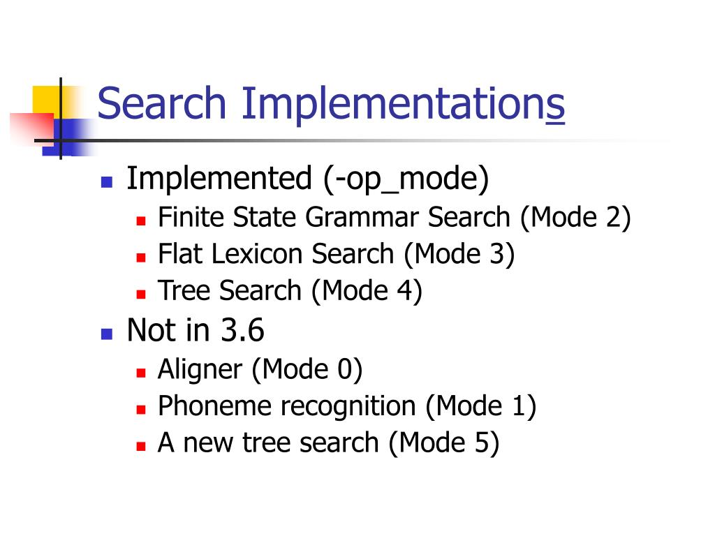 Search Implementation