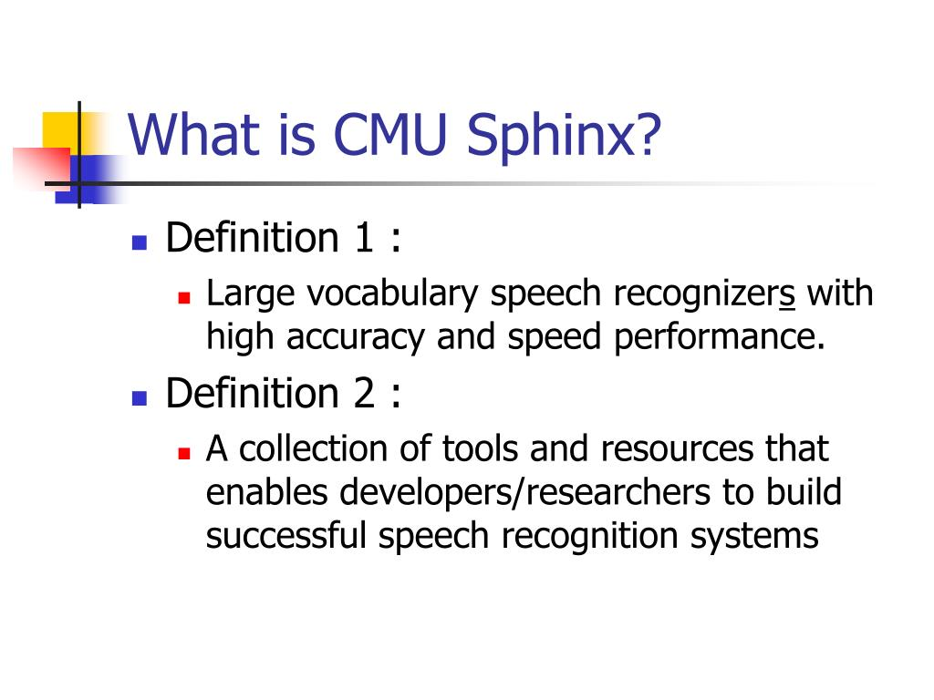 What is CMU Sphinx?