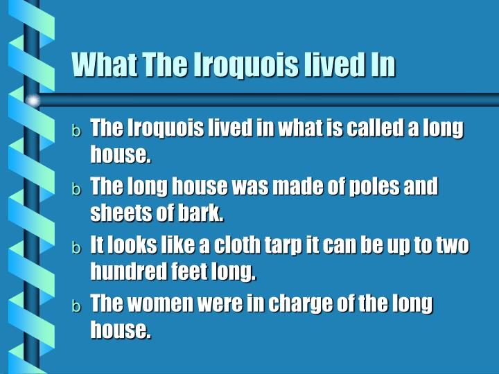 What The Iroquois lived In