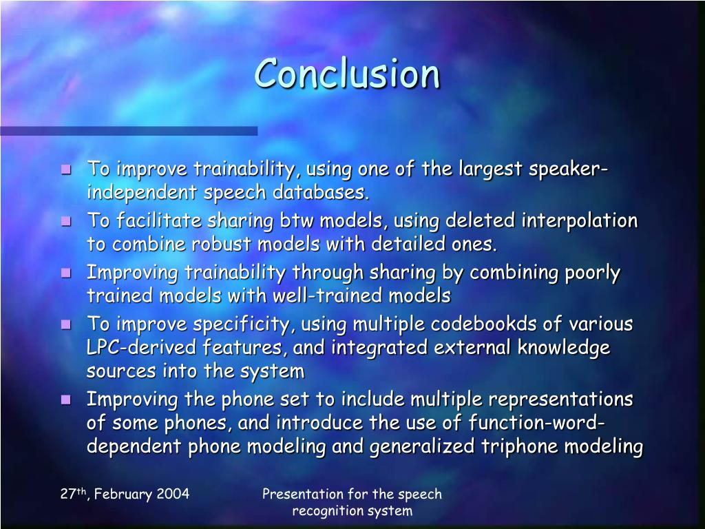 PPT - An overview of the SPHINX Speech Recognition System