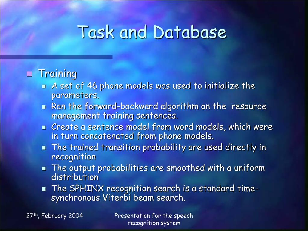 Task and Database