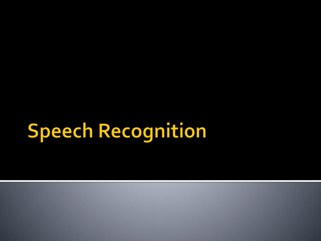 speech recognition l.