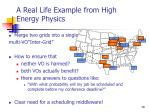 a real life example from high energy physics