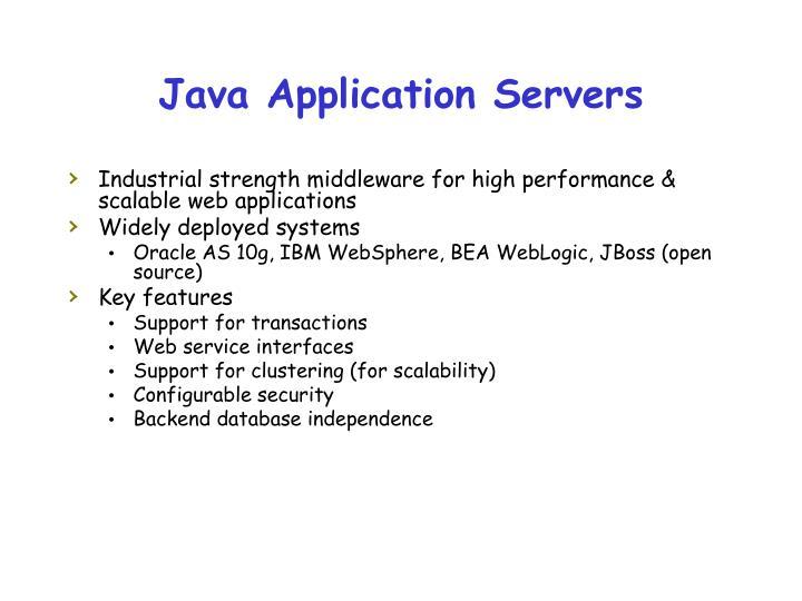 Java Application Servers