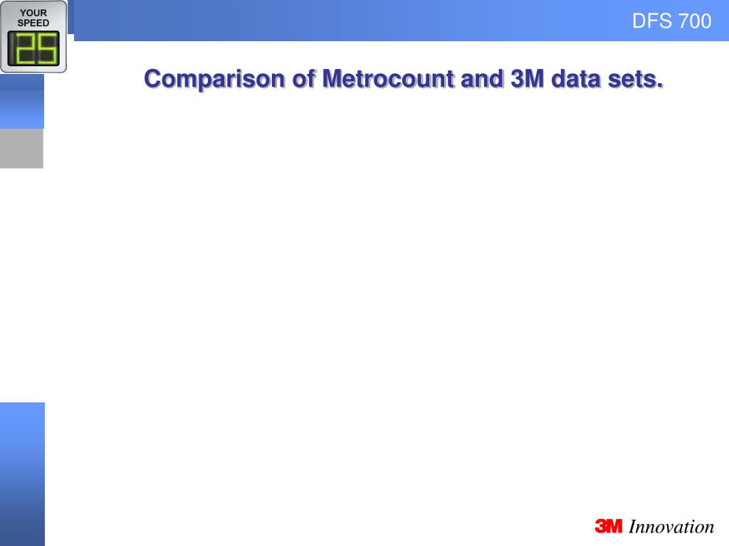 Comparison of Metrocount and 3M data sets.