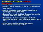 ics research projects artificial intelligence