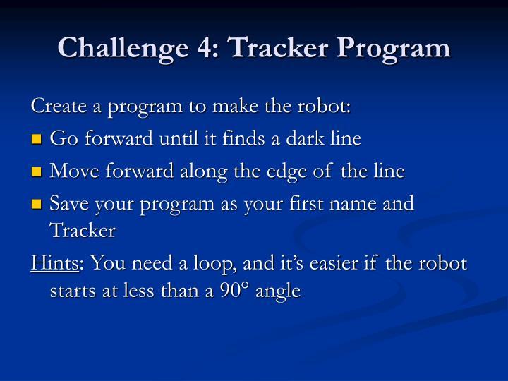 Challenge 4: Tracker Program