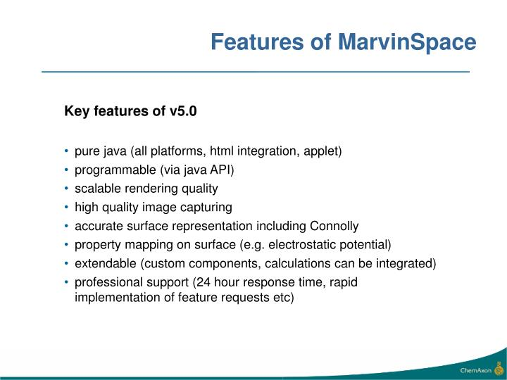 Features of marvinspace