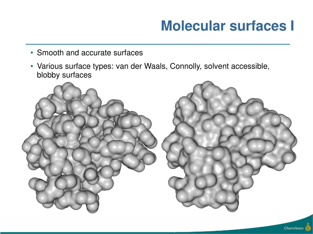 Molecular surfaces I
