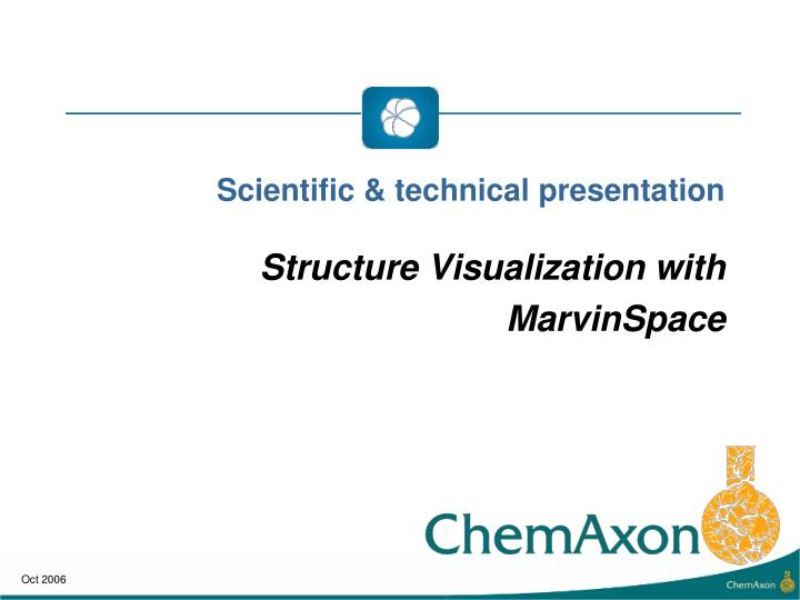 Scientific technical presentation structure visualization with marvinspace