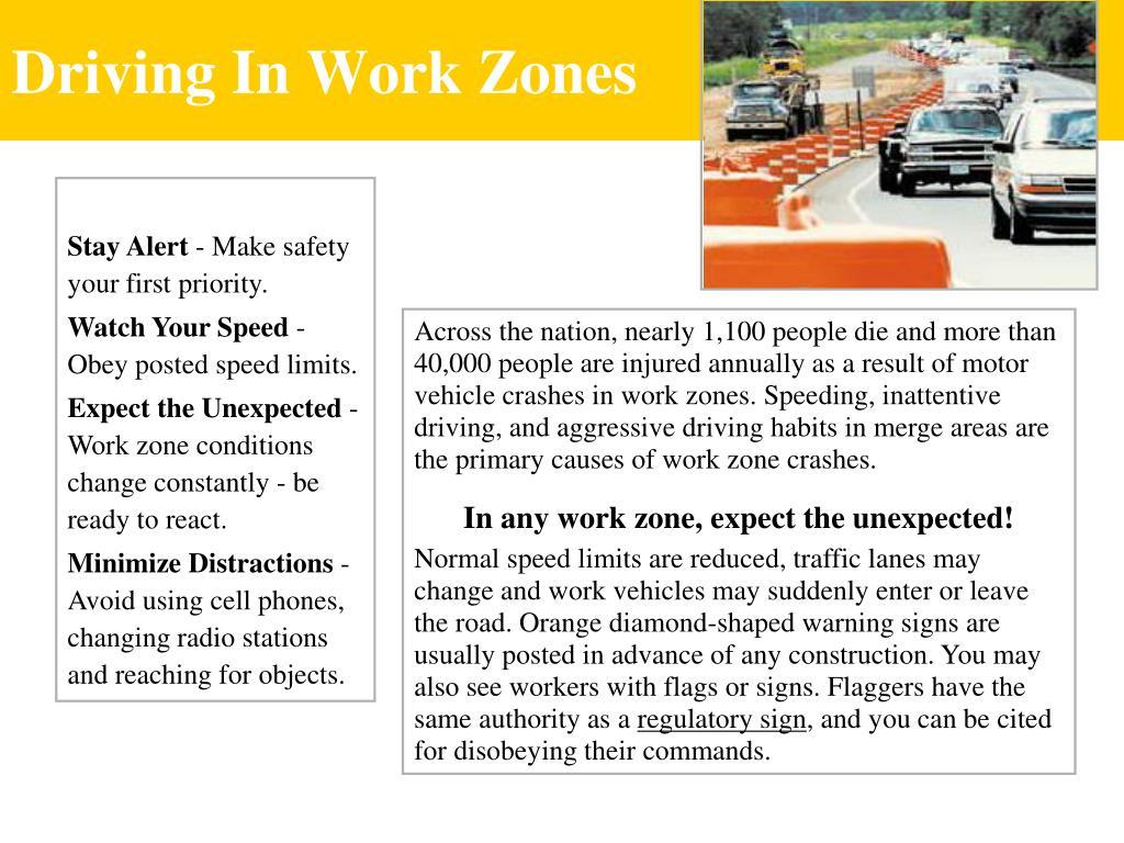 Driving In Work Zones