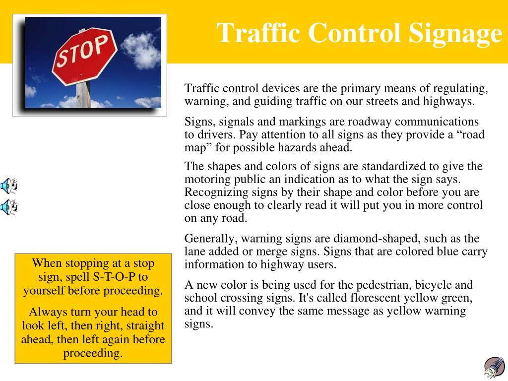 Traffic Control Signage