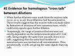 2 evidence for homologous cross talk between dilutions