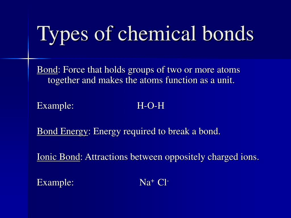 types of chemical bonds l.