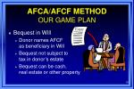 afca afcf method our game plan10