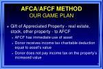 afca afcf method our game plan9