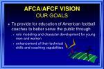 afca afcf vision our goals