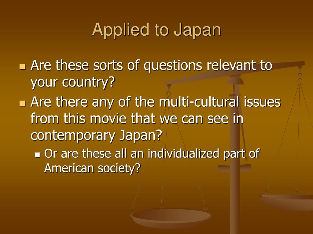 Applied to Japan