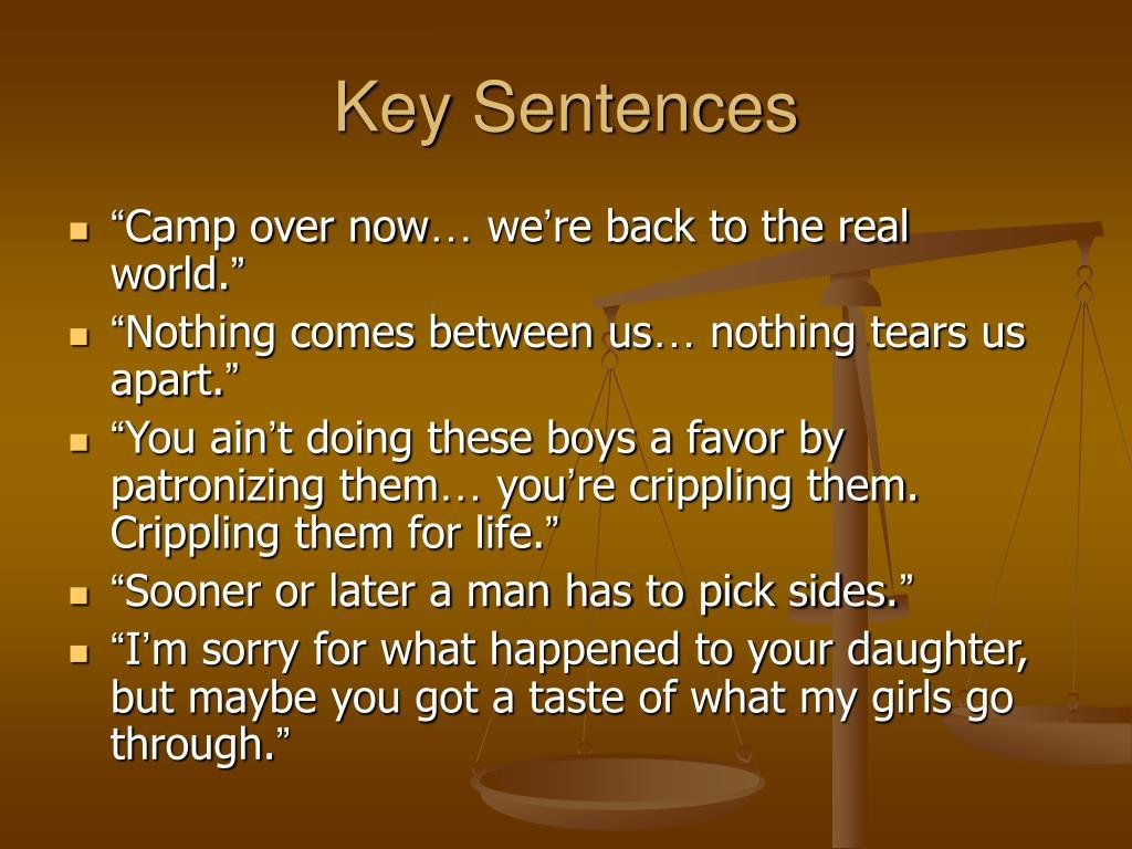 Key Sentences
