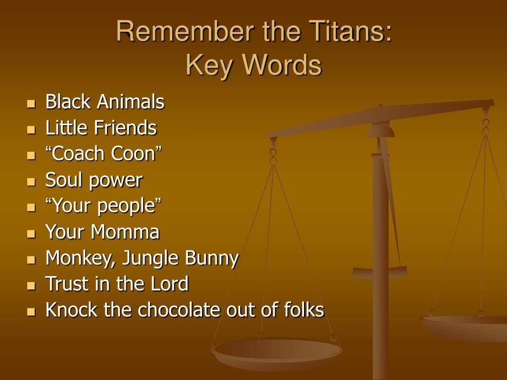 Remember the Titans: