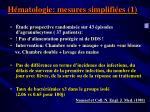 h matologie mesures simplifi es 1