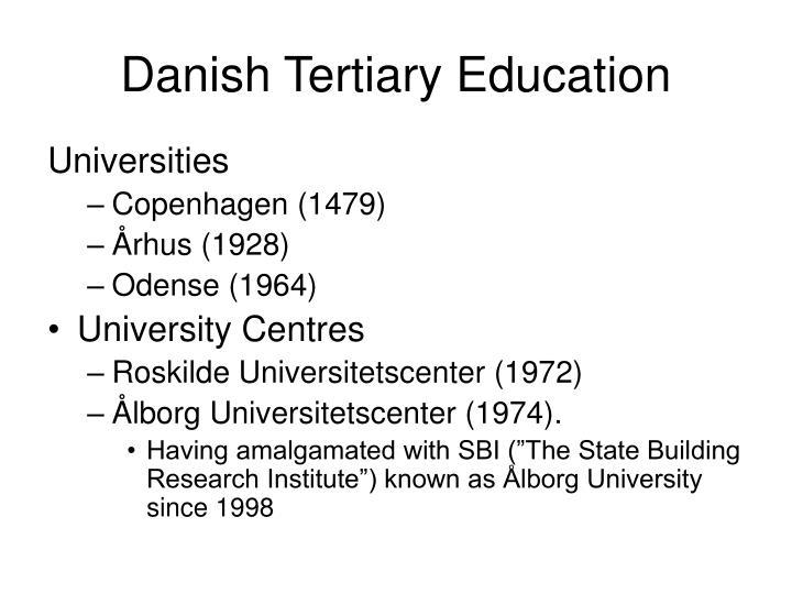 Danish tertiary education