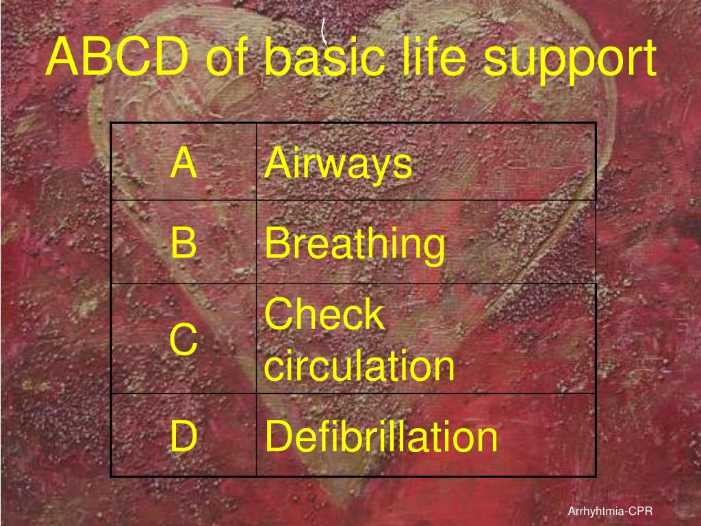 ABCD of basic life support