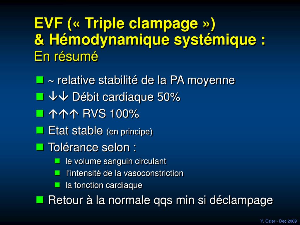 EVF («Triple clampage»)