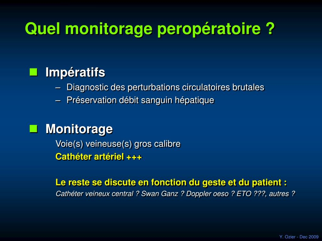 Quel monitorage peropératoire ?
