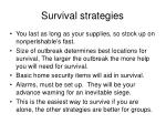 survival strategies