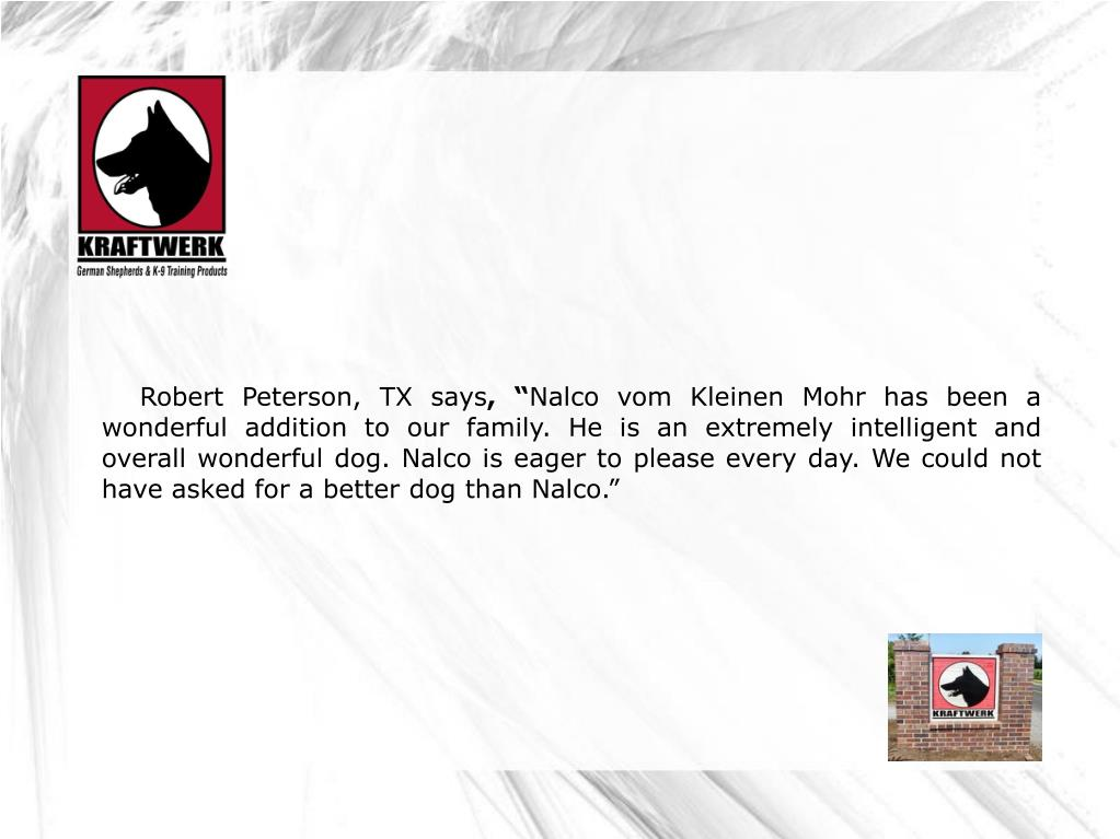 Robert Peterson, TX says