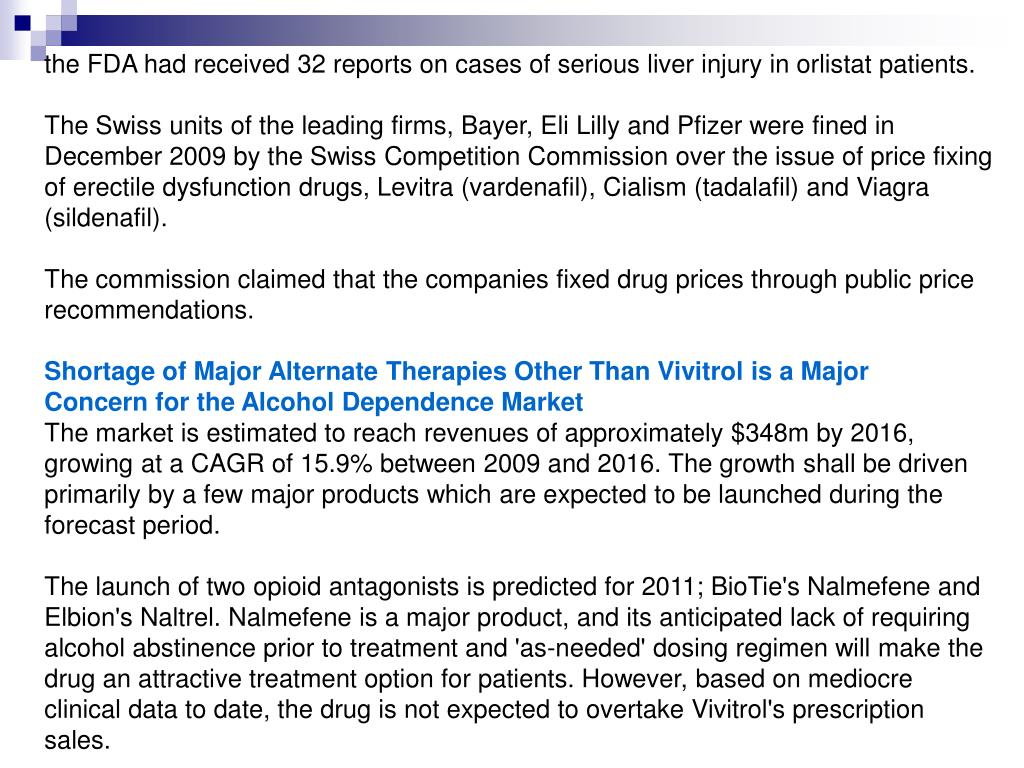 the FDA had received 32 reports on cases of serious liver injury in orlistat patients.