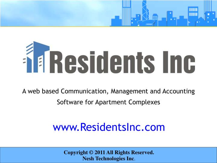 A web based communication management and accounting software for apartment complexes
