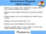 maintenance requests work order