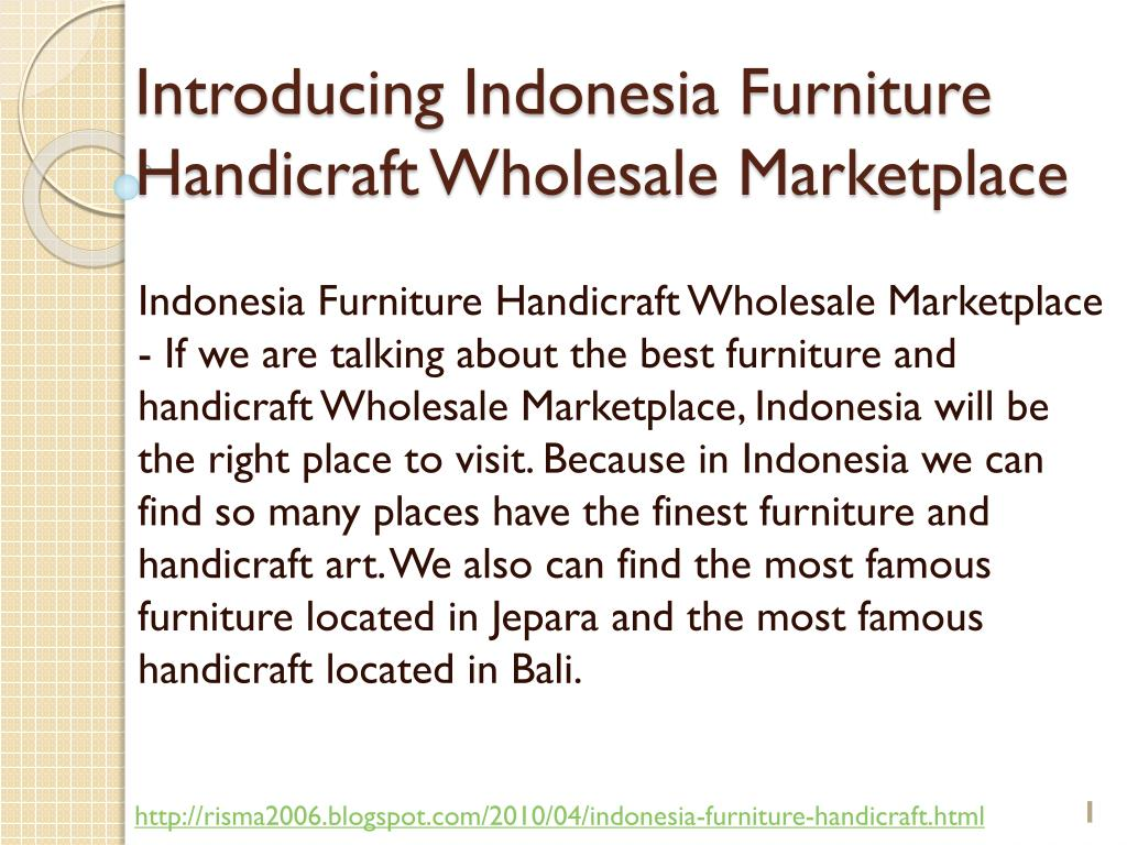 introducing indonesia furniture handicraft wholesale marketplace l.