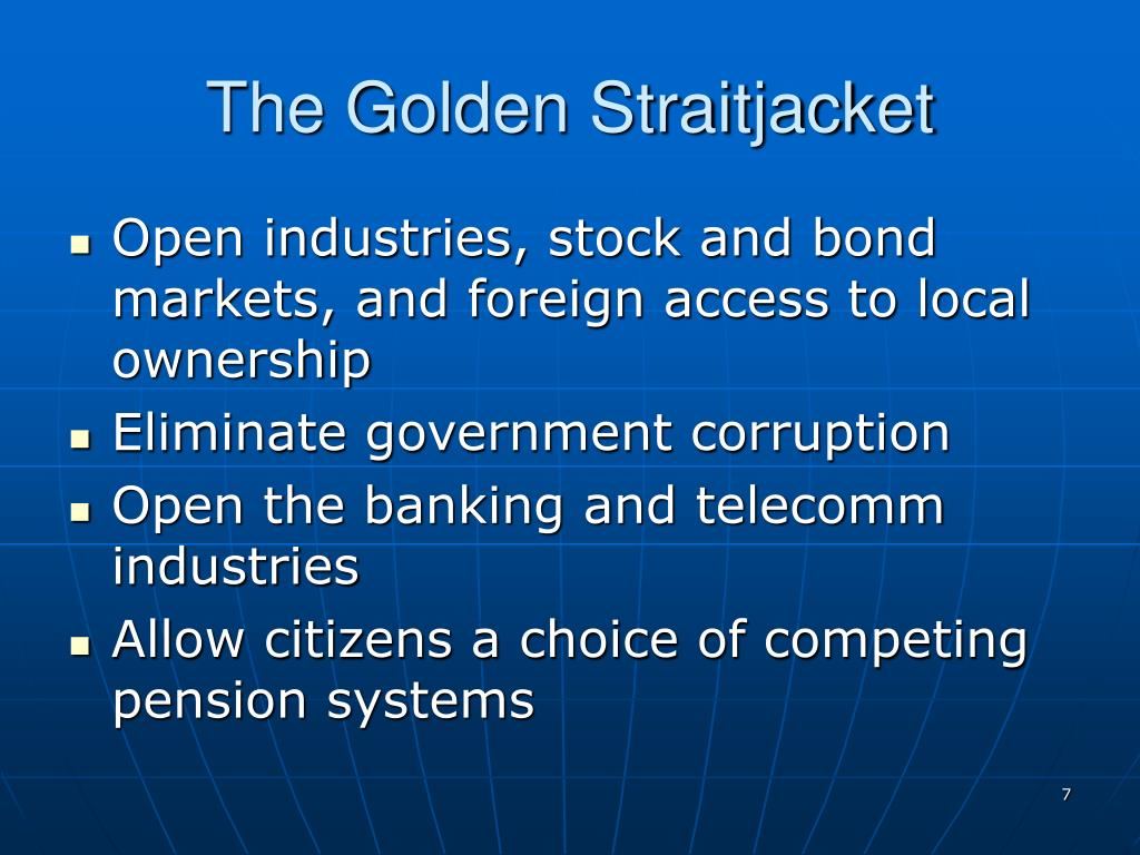 The Golden Straitjacket