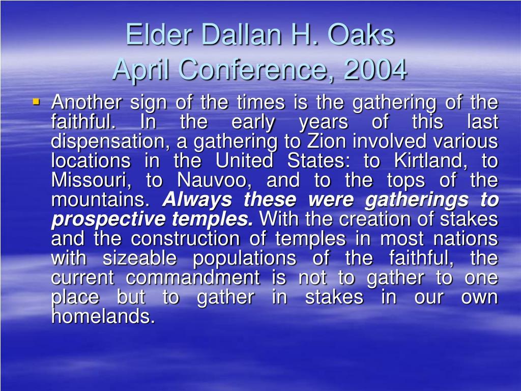 Elder Dallan H. Oaks