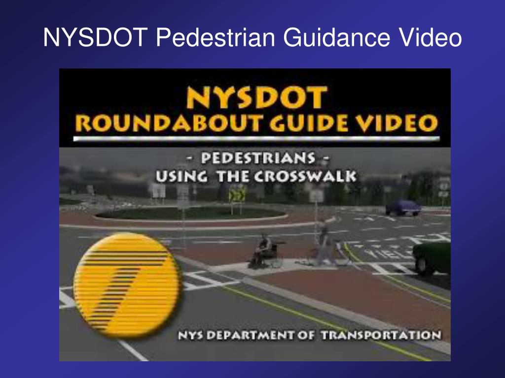 NYSDOT Pedestrian Guidance Video