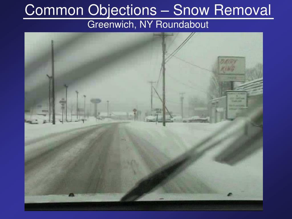 Common Objections – Snow Removal