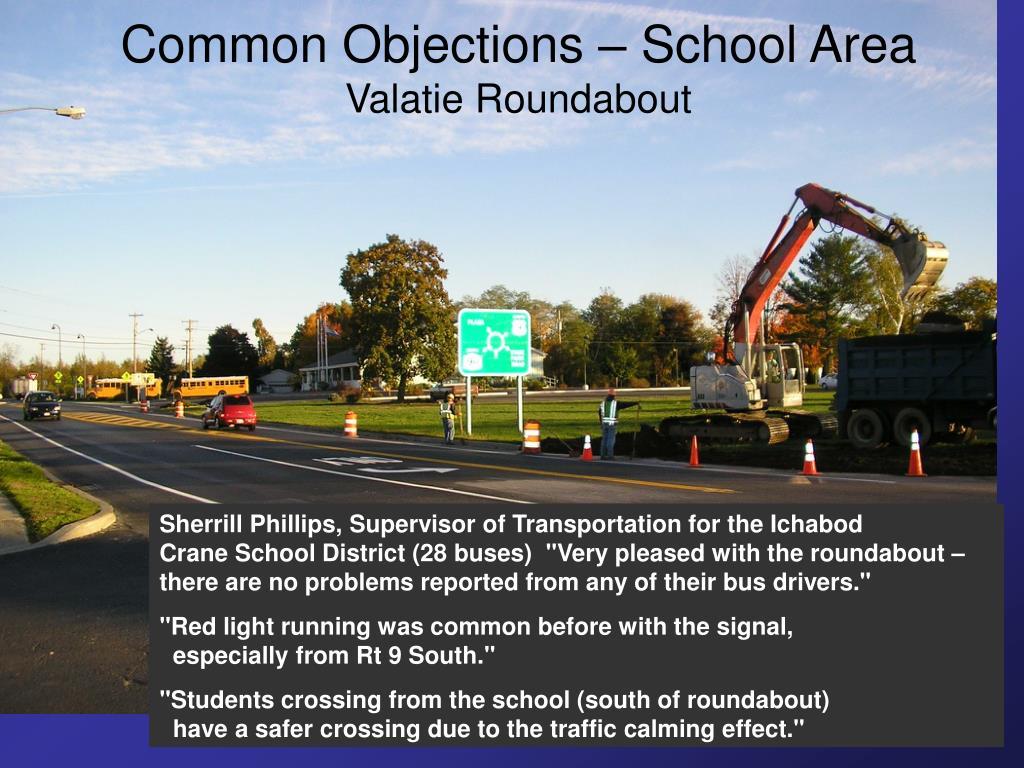 Common Objections – School Area