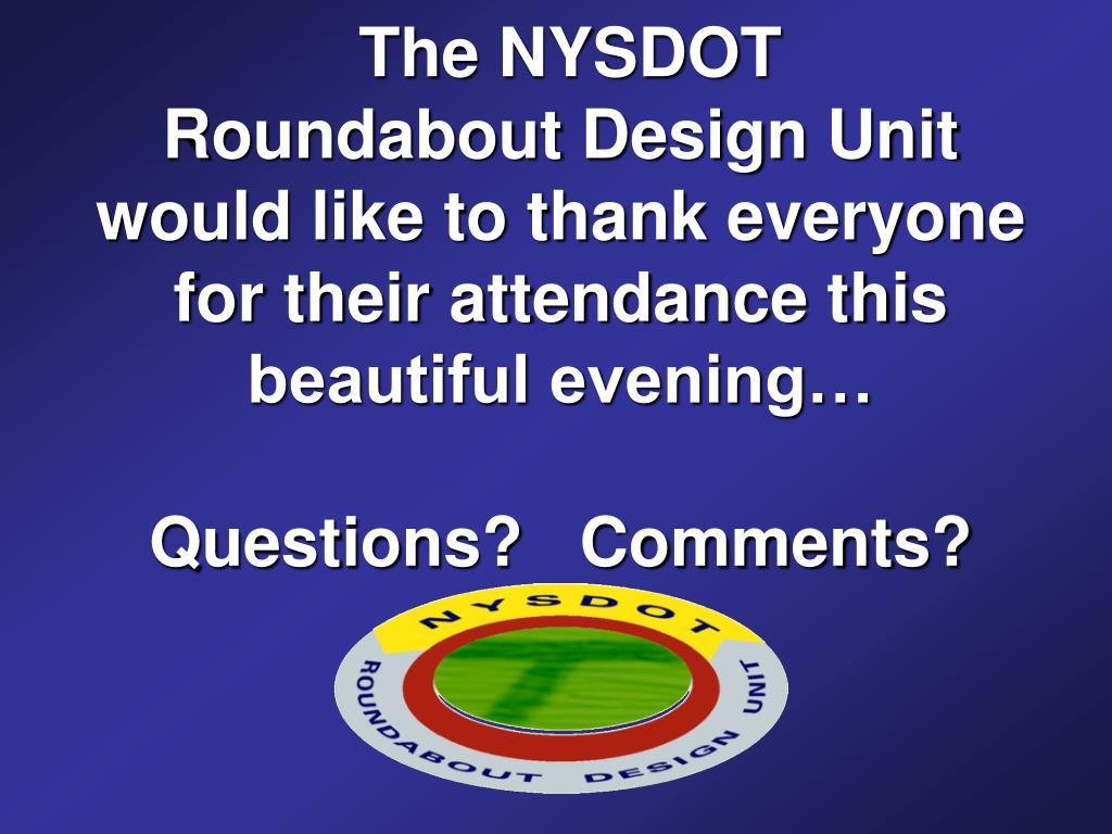 The NYSDOT