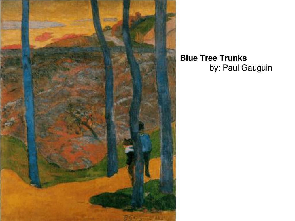 Blue Tree Trunks