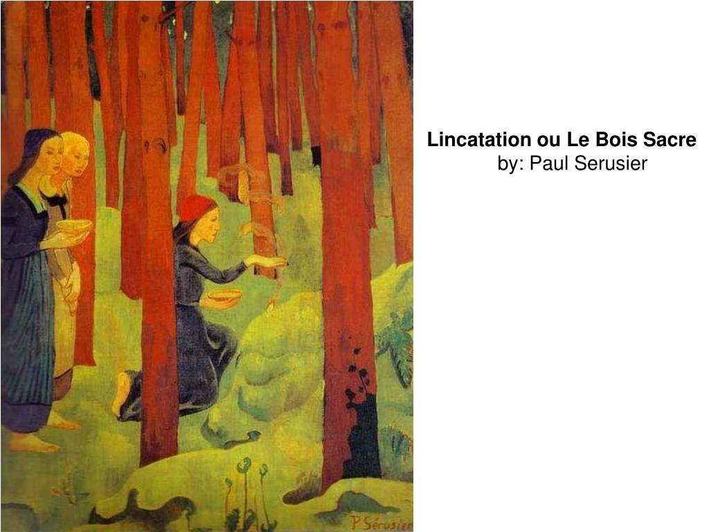 Lincatation ou Le Bois Sacre
