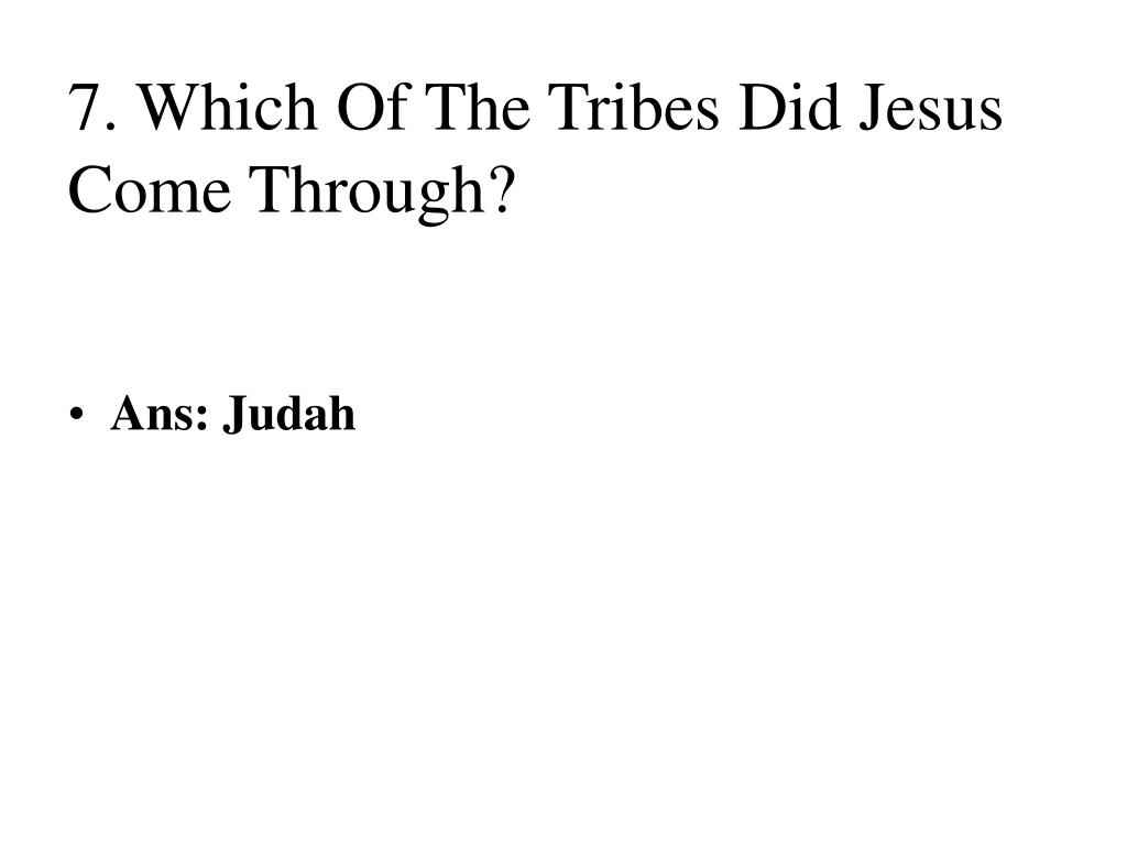 7. Which Of The Tribes Did Jesus Come Through?