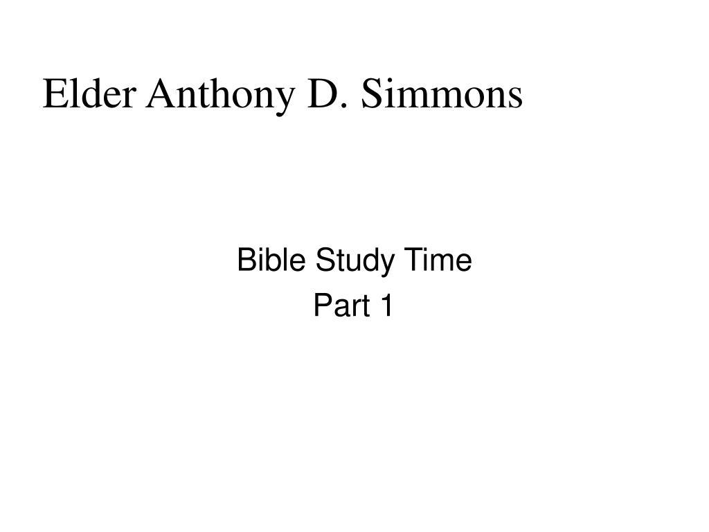 elder anthony d simmons l.